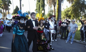 Opening walk at Dios de Los Muertos, Day of the Dead, Hollywood Forever Cemetery