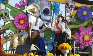 Las Cafeteras performs at Dios de Los Muertos, Day of the Dead, Hollywood Forever