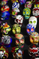 Painted skulls at Day of the Dead (Dia de los Muertos) at Hollywood Forever cemetery